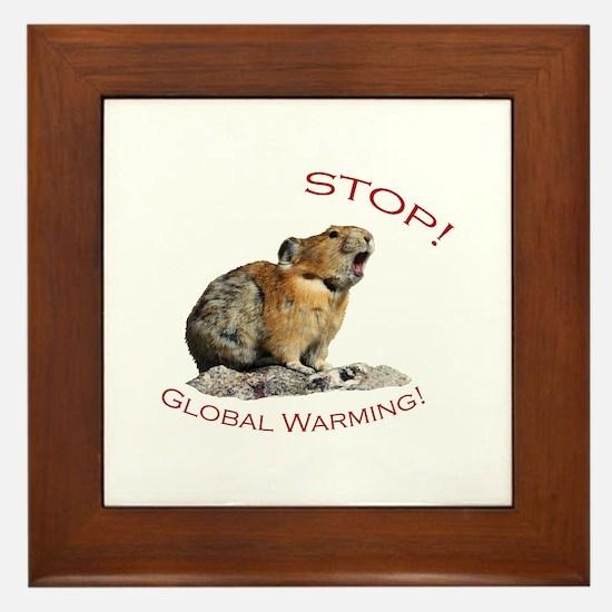 Global Warming Framed Tile