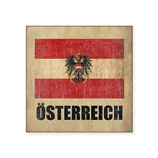 "Vintage Austria Square Sticker 3"" x 3"""