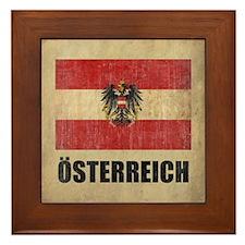 Vintage Austria Framed Tile