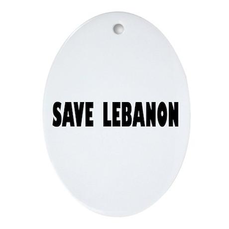 Save Lebanon Oval Ornament