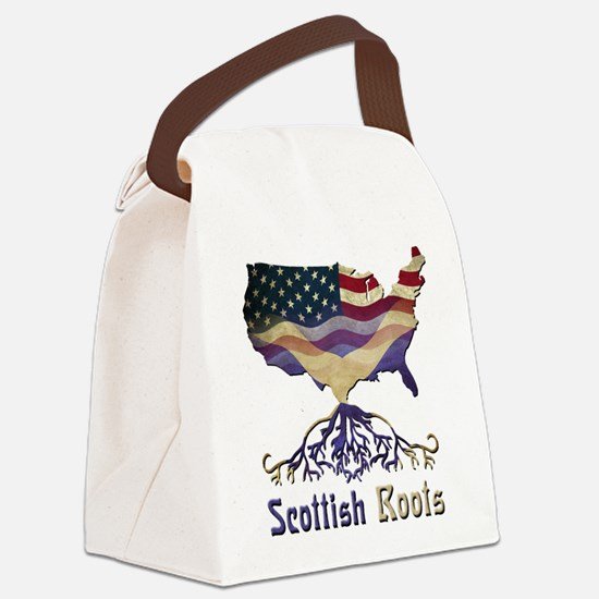 American Scottish Roots Canvas Lunch Bag