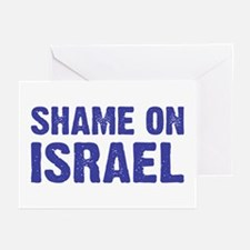 Shame on Israel Greeting Cards (Pk of 10)