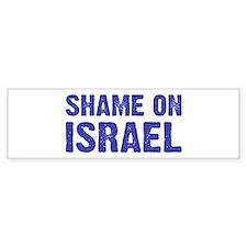 Shame on Israel Bumper Bumper Sticker