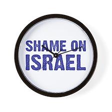 Shame on Israel Wall Clock