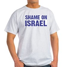 Shame on Israel Ash Grey T-Shirt