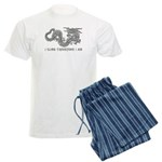 I Climb Zen Dragon Men's Light Pajamas