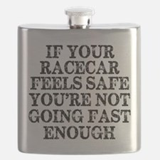 Funny Racing Saying Flask