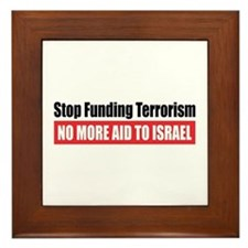 Stop Funding Framed Tile