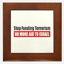 Stop Funding Framed Tile