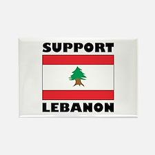 Support Lebanon Rectangle Magnet