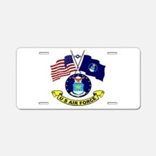 USAF-USA Flags Aluminum License Plate