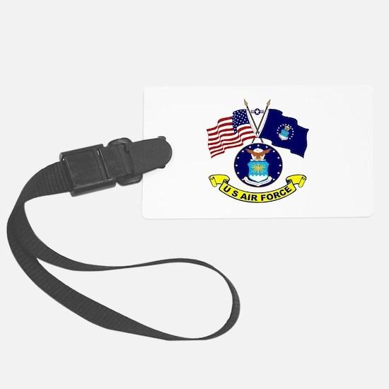 USAF-USA Flags Luggage Tag