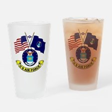 USAF-USA Flags Drinking Glass