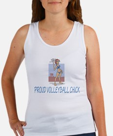 Proud Volleyball Chick Women's Tank Top