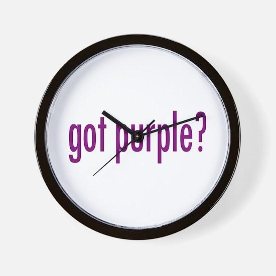 got purple? Wall Clock