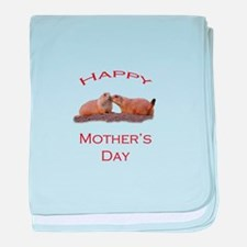 Mother's Day Kiss baby blanket