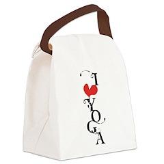 I heart YOGA Canvas Lunch Bag