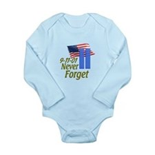 Never Forget 9-11 - With Buildings Long Sleeve Inf