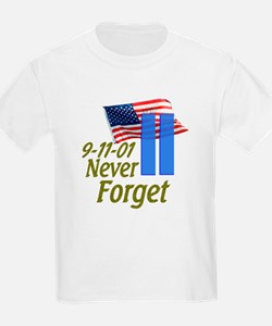 Never Forget 9-11 - With Buildings T-Shirt