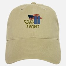 Never Forget 9-11 - With Buildings Baseball Baseball Cap