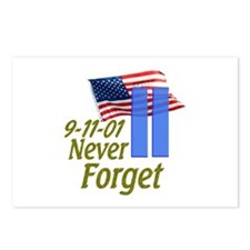 Never Forget 9-11 - With Buildings Postcards (Pack