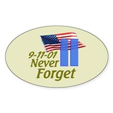 Never Forget 9-11 - With Buildings Decal