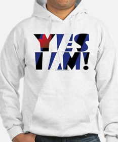 YES I AM! leather 02 Hoodie