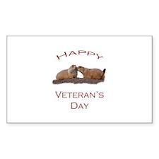 Happy Veteran's Day Decal