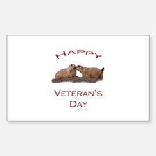Happy Veteran's Day Decal