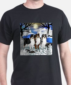 AUSTRALIAN SHEPHERD DOGS WINTER T-Shirt