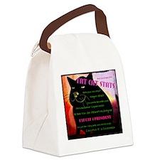 Fat Cat Stats Canvas Lunch Bag