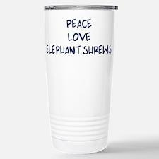 Peace, Love, Elephant Shrews Mugs