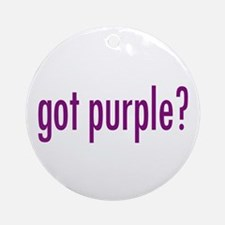 got purple? Ornament (Round)