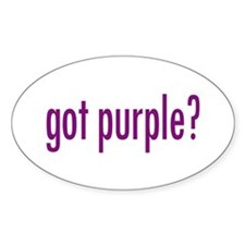 got purple? Oval Decal