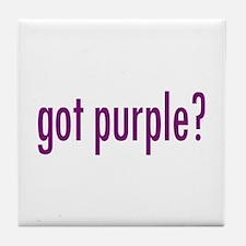 got purple? Tile Coaster