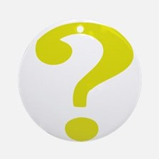 Fancy Question Mark Ornament (Round)