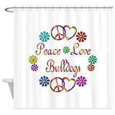 Bulldogs Shower Curtain