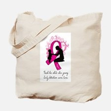 """""""Teach While She's Young"""" Tote Bag"""