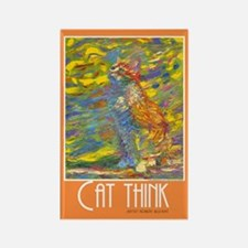 Cat Think Artistic Rectangle Magnet