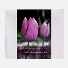 Thoughts Of You (LOVE) Throw Blanket
