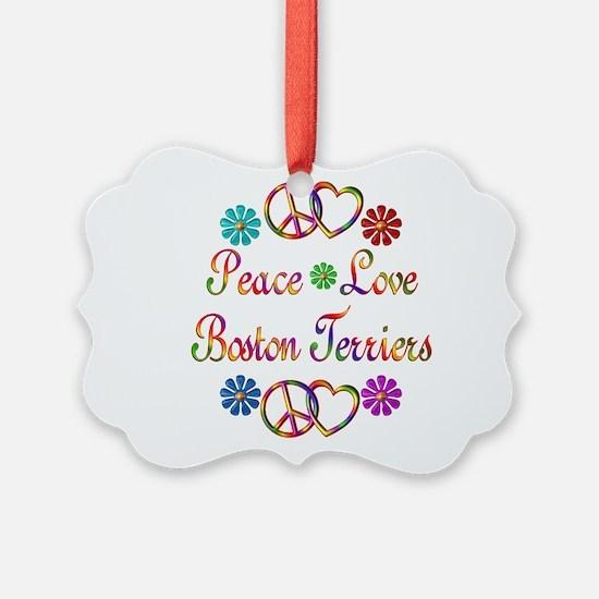 Boston Terriers Ornament