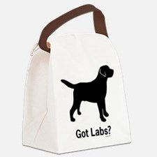 Got Labs? Silhouette Canvas Lunch Bag