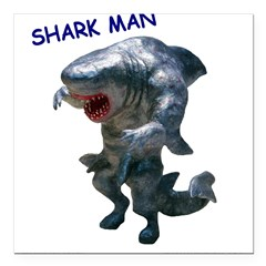 Chace Lobleys Shark man. Square Car Magnet 3