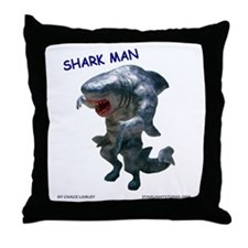 Chace Lobleys Shark man. Throw Pillow