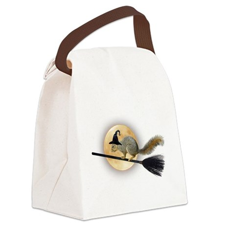 Witch Squirrel Canvas Lunch Bag