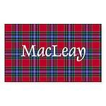 Tartan - MacLeay Sticker (Rectangle)
