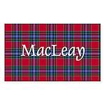 Tartan - MacLeay Sticker (Rectangle 10 pk)