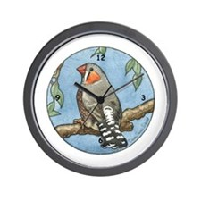Zebra Finch Wall Clock