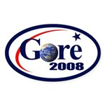 RE-ELECT GORE Oval Sticker