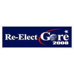 RE-ELECT GORE Bumper Bumper Sticker
